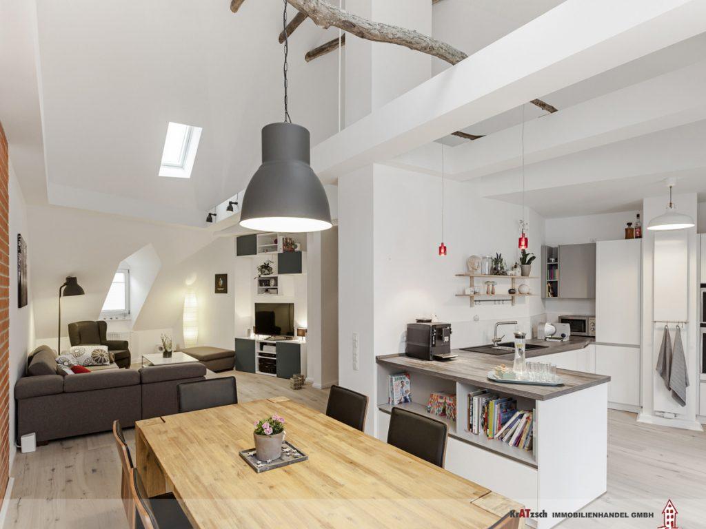Wohnen Essen Küche Loftdesign